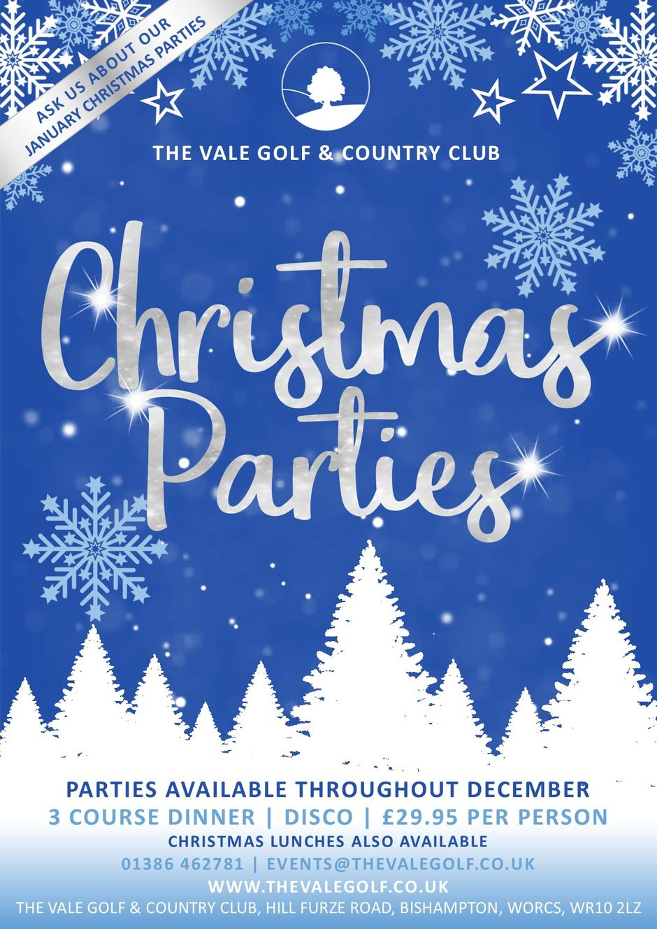Christmas Eve 2019.Christmas Parties 2019 The Vale Golf Country Club